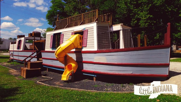 Canal Interpretive Center in Delphi, Indiana Playground