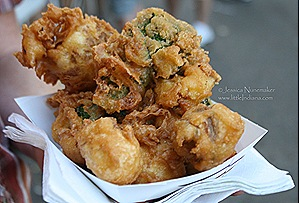 The Plymouth, Indiana Blueberry Festival: Fried Veggies!