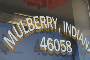 Mulberry, Indiana in Clinton County