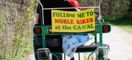 Noble Bikes and the Canal in Delphi, Indiana