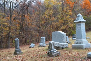Ball Hill Cemetery in Cutler, Indiana: It's quite the hill!