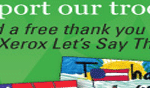Let's Say Thanks Xerox Free Postcards for Troops