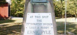 Ernie Pyle Monument Marker Replica in Dana, Indiana