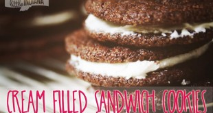 Copycat Chocolate Cream Filled Sandwich Cookies Recipe