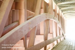 Indiana Covered Bridges: Ceiling of Dana Bridge