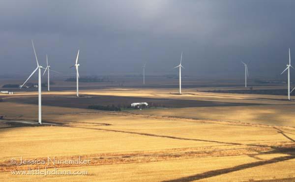 Indiana Wind Farm Along I-65