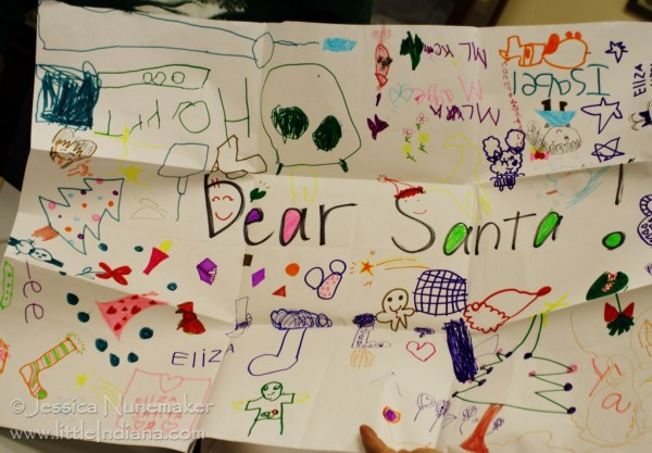 Santa Claus Museum in Santa Claus, Indiana: Child's Drawing for Santa