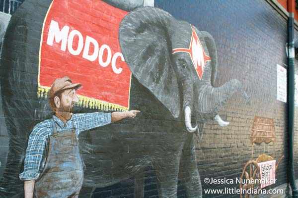 Modoc's Market in Wabash, Indiana Exterior Elephant Wall Mural