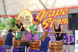 Vevay, Indiana: Swiss Wine Festival Media Celebrity Grape Stomp