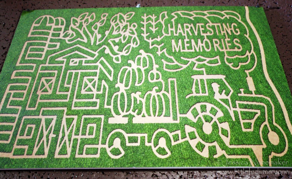 Guse Christmas Trees in Wanatah, Indiana: Corn Maze Map