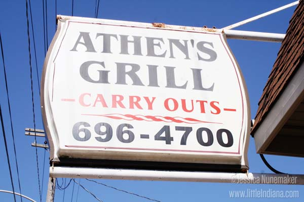 Athens Grill in Lowell, Indiana Exterior Sign