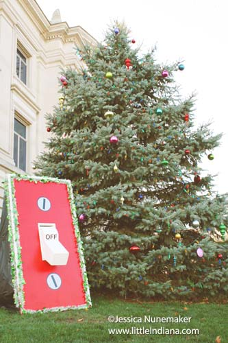 Christmas on the Square in Danville, Indiana The Switch for the Downtown Christmas Lights