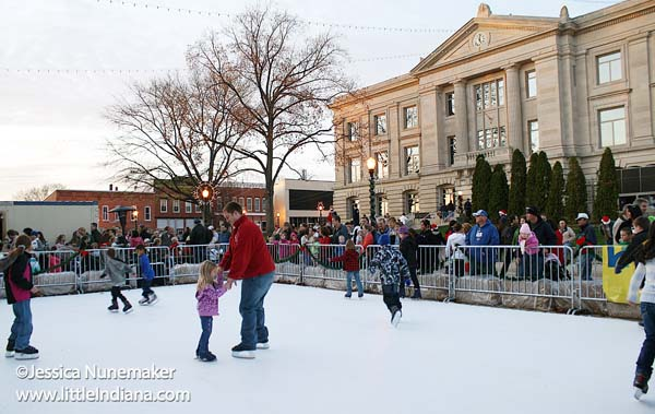 Christmas on the Square in Danville, Indiana Ice Skating