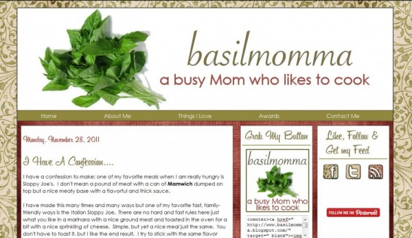 Indiana Blogs: Basil Momma