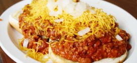 Journey's End in Bourbon, Indiana Texas Chili Cheeseburger