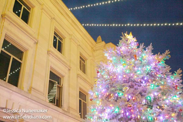 Christmas on the Square at Hendricks County Courthouse in Danville, Indiana