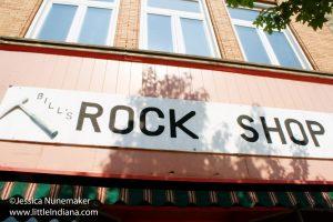 Bill's Rock Shop in Delphi, Indiana