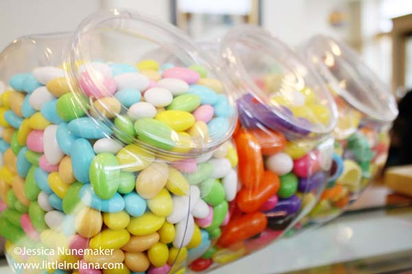 Charley Creek Inn Candy Shoppe in Wabash, Indiana Bulk Candy Jars