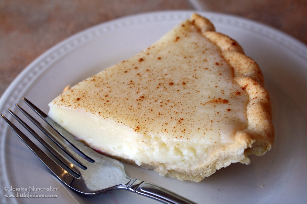 Five Loaves Bakery and Cafe in Francesville, Indiana Sugar Cream Pie