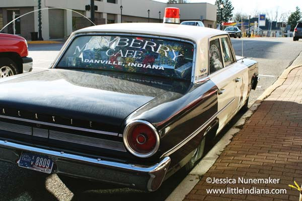Mayberry  Cafe in Danville, Indiana Sheriff Andy Taylor's Police Car