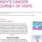 Indiana Blogs: Cindy's Cancer Journey of Hope