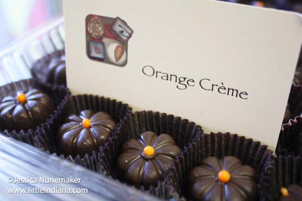 Confection Delights in Danville, Indiana Orange Creme Chocolates