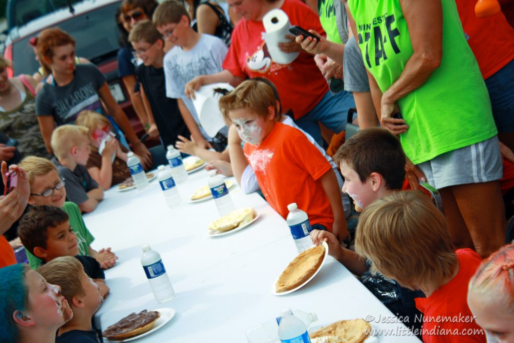North Judson Mint Festival Pie Eating Contest