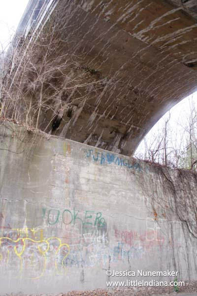 Twin Bridges in Danville, Indiana Graffiti