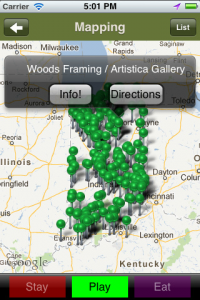 little Indiana Travel App for Android: Mapping