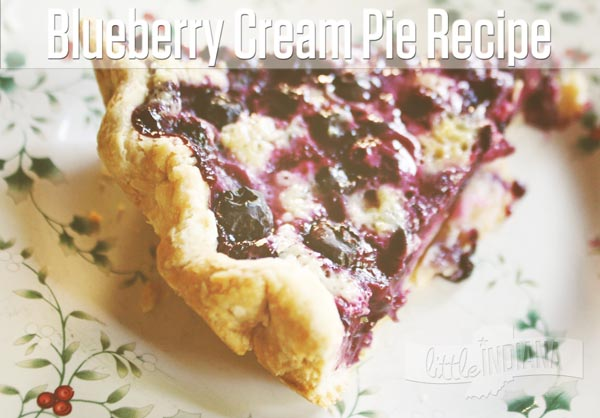 Blueberry Cream Pie Recipes