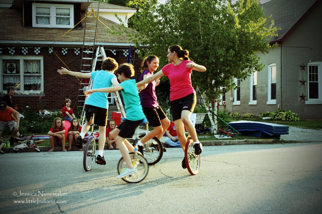 Annual Neighborhood Circus and Block Party: Unicycle Circle