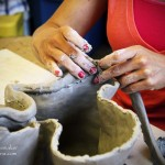 The Potter's Bench: Peru, Indiana -- Lyndsey Hitchings at Work