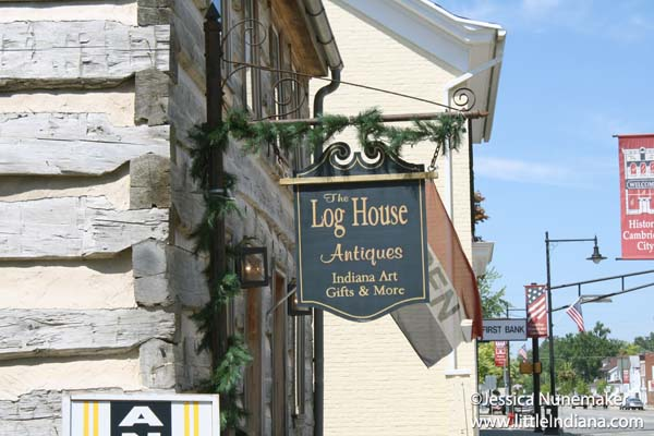 Log House Antiques in Cambridge City, Indiana Exterior