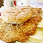 Lumpy's Cafe in Cambridge City, Indiana Pork Tenderloin Sandwich
