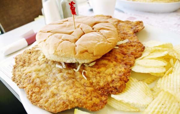 Lumpy's Cafe in Cambridge City, Indiana Pork Tenderloin Sandwich