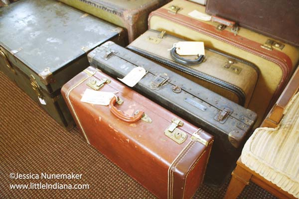 Stop 301 Shoppes in Chesterton, Indiana Vintage Suitcases