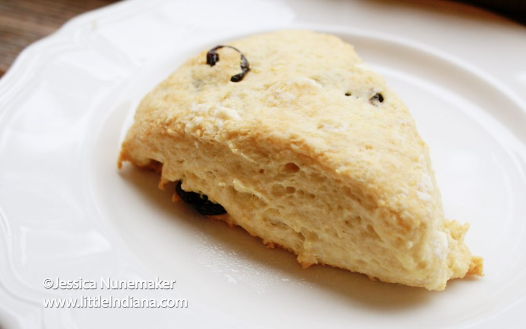 White Chocolate and Cherry Scones