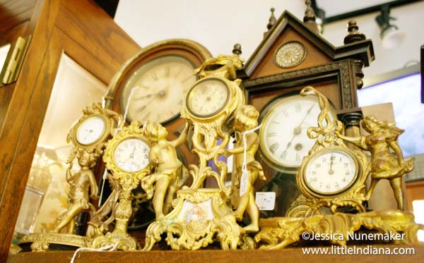 Katie's Antiques in Chesterton, Indiana Antique Clocks Galore