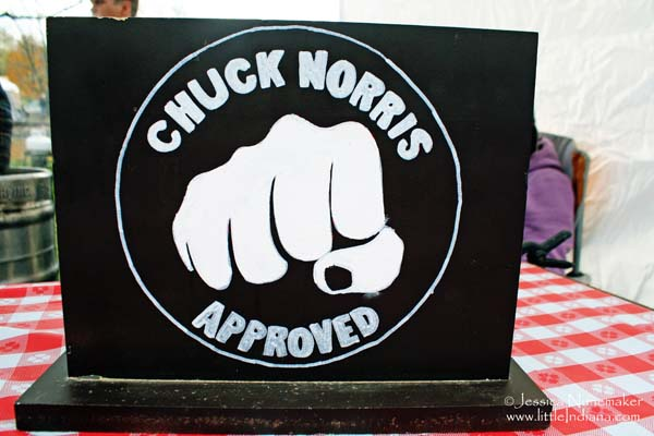 Wabash Cannonball Chili Cookoff for Charity in Wabash, Indiana is Chuck Norris Approved
