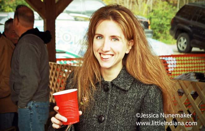 Wabash Chili Cook-Off Judging at Paradise Spring Historical Park in Wabash, Indiana: Jessica Nunemaker, Chili Judge