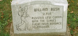 "William Bush ""Slave"" Headstone at Willow Grove Cemetery in Fountain City, Indiana"