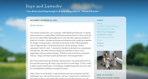 Indiana Blogs: Hope and Lavender