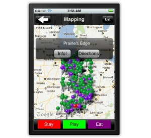 little Indiana App Mapping Example (for iPhone/iPad and Android)
