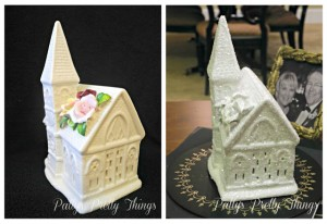 Glittery White Church Craft