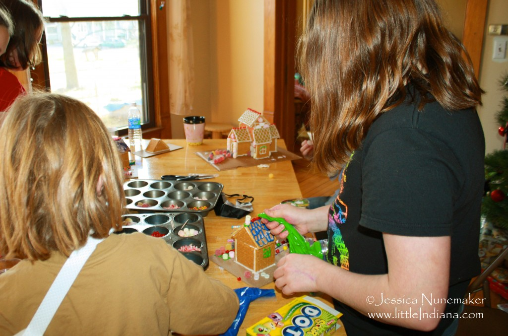 Homemade Graham Cracker House with Gingerbread House Glue