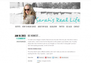 Indiana Blogs: Sarah's Real Life