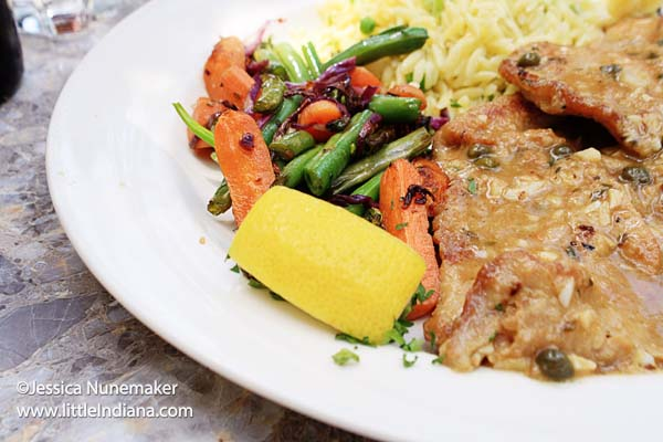 Lucrezia Cafe in Chesterton, Indiana Veal Piccata