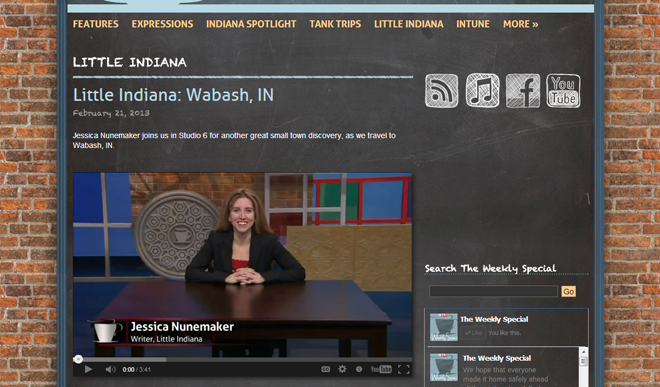 little Indiana on PBS in Wabash, Indiana