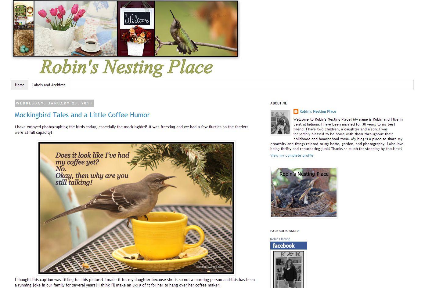 Indiana Blogs: Robin's Nesting Place   littleindiana.com