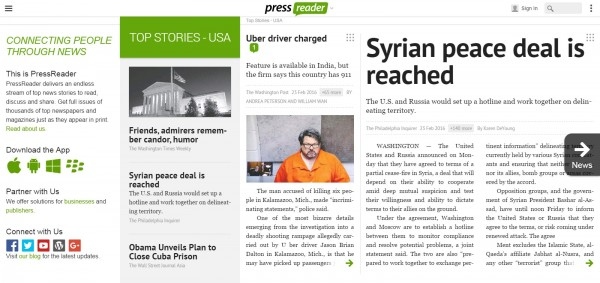 PressReader Connecting People